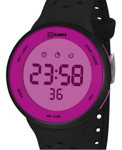 Relógio X-games Feminino Digital Preto/rosa Original Barato