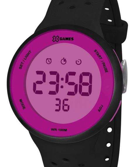 Relógio X-games Feminino Digital Preto / Rosa Xfppd077 Rxpx