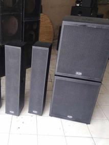 Kit 2 Line Vertical Ks Audio4x6 + Ti+ 2 Sub 18 ( Passivo )