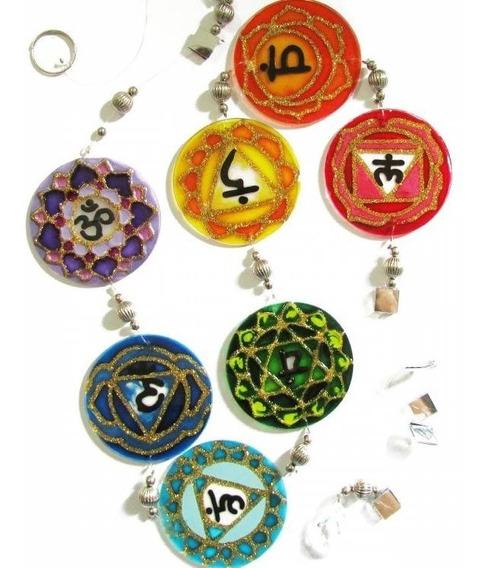 Mandala Meditação Dos 7 Chakras Fio De Luz 6cm J