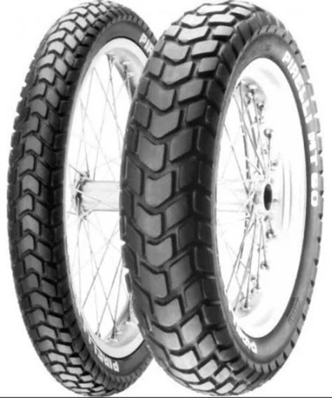 Par Pneu Pirelli Mt60 Traseiro/dianteiro 90/90-19 110/90-17 M/c Bros