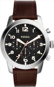 Relógio Fossil Fs5143 (masculino) Marrom E Prata
