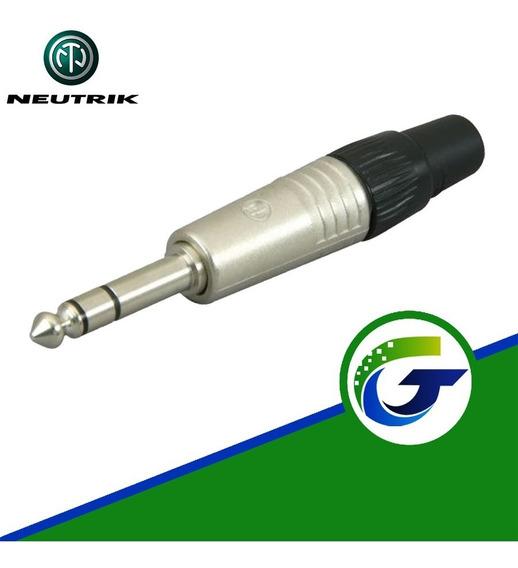 Neutrik Conector Audio Plug 1/4 Stereo Profesional Original
