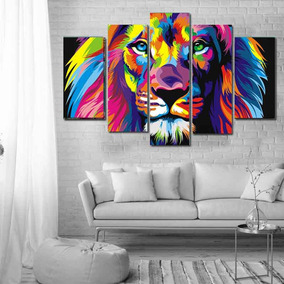 León Colores Xxl 150x100 Canvas, Animales! Decorativo