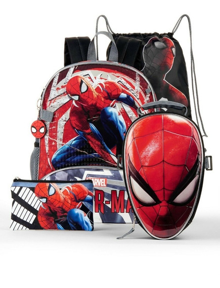 Mochila Spiderman Hombre Araña 16 Pulgadas Original
