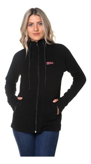 Campera Polar Billabong Roadie Zip Outwear Black Mujer