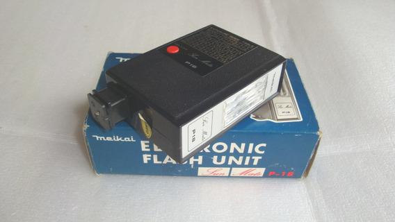 Antigo Flash Eletronico Sun Mate P18 Meikai - Usado No Estad