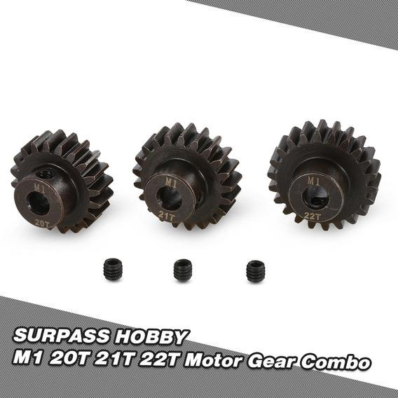 Surpass Hobby M1 20 T 21 T 22 T Pinhão Motor Gear Para 1/8 R