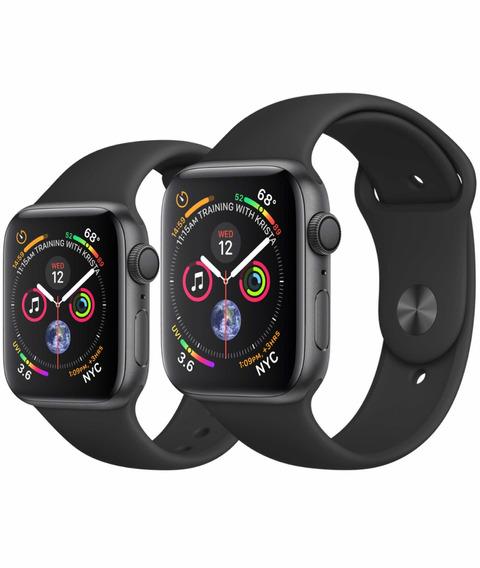 Relógio Apple Watchsérie4 40mm Preto Gps + Película Brinde