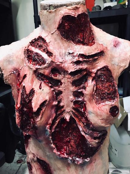 Protesis Desgarrado Pecho Mujer Látex Defaline Sfx