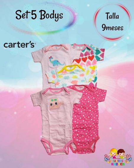 Set De 5 Bodys Carters Para Bebé Niña