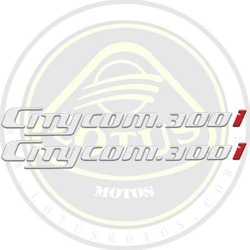 Adesivo Lateral Traseiro Escrita Emblema Resinado Citycom 300 Stdf000 Com Nota
