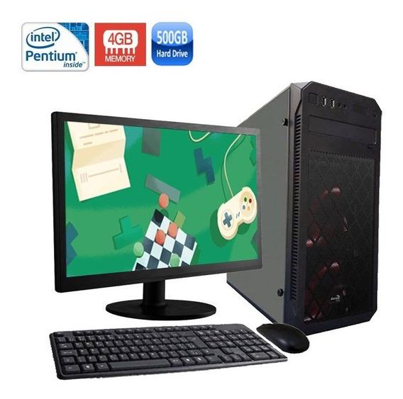 Computador Dominus Pentium 4gb Hd 500gb + Monitor