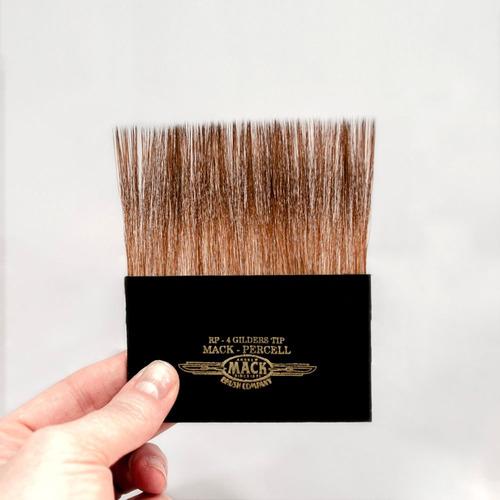 Pincel Aplicador Mack Brush Folha De Ouro / Douracao