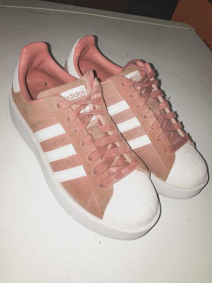 Zapatillas Superstar Originales adidas Mujer Rosas