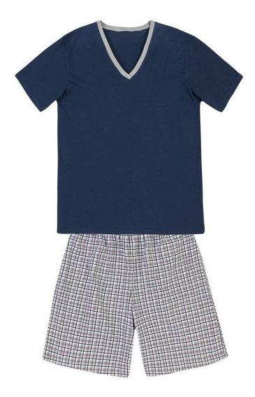 Pijama Masculino Hering Camiseta E Short Original 76wx