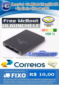 Memory Card Ps2 16mb Com Opl 1558 + Freemcboot + Ulaunchelf