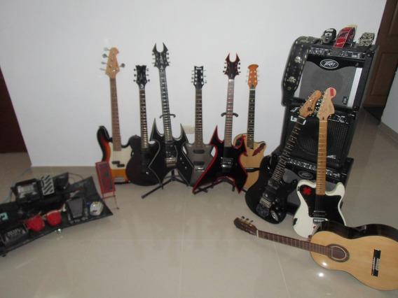 Venta Guitarras Electricas, Bateria, Amplis, Y Bajo! Regalo!