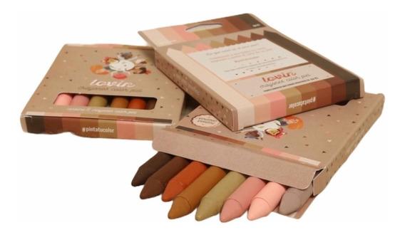 Crayones Color Piel X8 Diversidad Eco Friendly No Toxico