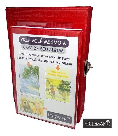 Álbum 80 Fotos -cetim Vermelho- Com Maleta
