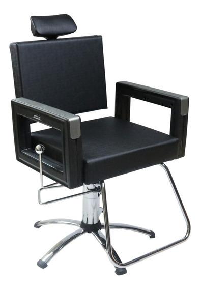 Poltrona Cadeira Reclinável P/ Barbeiro Maquiagem Salão