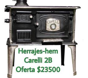 Cocina A Leña Carelli N°2c Nuevas Herrajes-hem