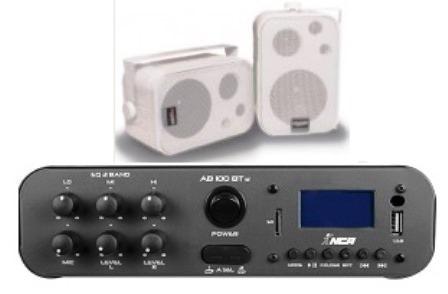 Amplificador Ab100bt St Nca (bluetooth) + 1 Par Caixa Sp400