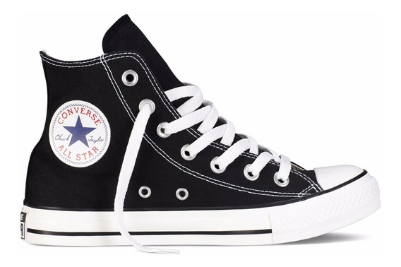 Zapatillas Converse All Star Hi Kids Negro- Sagat Deportes