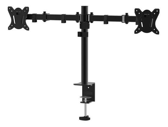 Suporte Duplo Mesa P/ Monitor Articulado 15 A 27 Polegadas