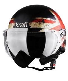 Capacete Kraft Aberto Plus Inglaterra Fosco - 56 - Preto Fos