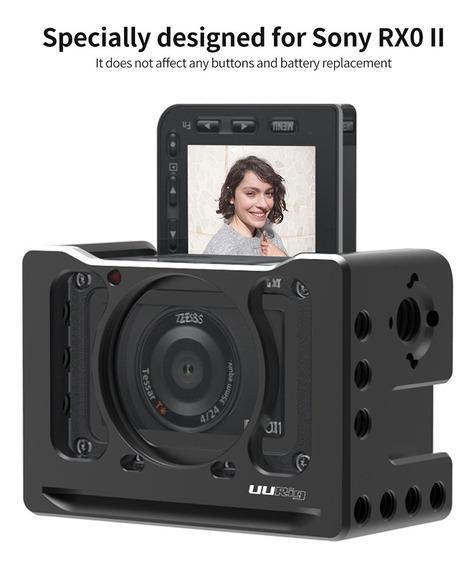 Uurig Camera Gaiola Microfone Vlog Suporte Para Sony Preto