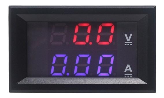 Voltímetro E Amperímetro Digital S/shunt 100v X 50a -cod.60