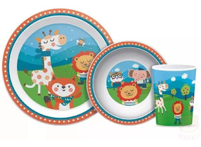Kit Refeição Infantil Happy Friends - Buba Baby