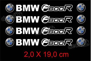 Adesivos Centro Roda Refletivo Moto Bmw F800r Rd2