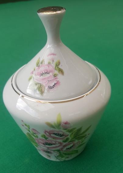 Açucareiro Antigo Porcelana Pozzani Flores