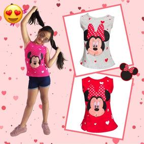 Camiseta De Minnie Y Short Mezclilla