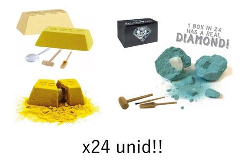 Caja X24 Juego Mine It Gold Diamond Oro Y Diamante Full