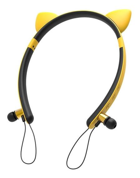 Fone Ouvido Bluetooth Orelha Gato Arco Tiara Intra Auricular