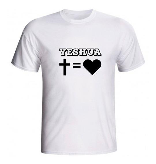 Kit C/3 Camiseta Camisa Baby Look Evangélica Yeshua Jesus