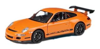 Miniatura Porsche 911 Gt3 Rs Premium 1:24 Colecionável Welly