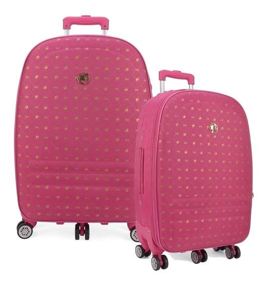 Kit Mala Barbie Bordo P E M 360 Rosa Pink Viagem