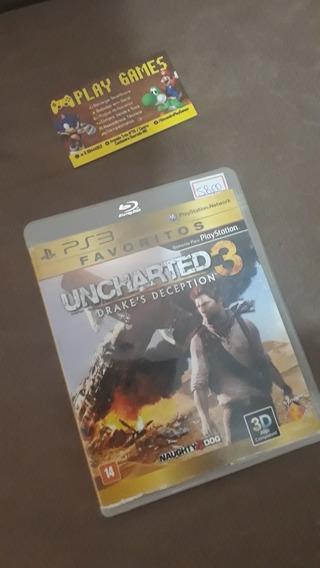 Jogos Ps3 Barato/ Uncharted 3/ Midia Física