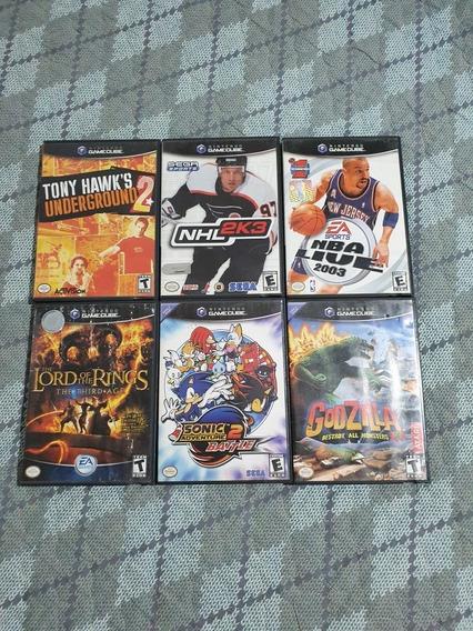 Coleção De 6 Jogos De Gamecube