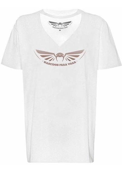 Camiseta Feminina Tee Chocker Nascidos Para Voar Paraquedas