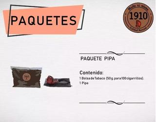 Paquete Pipa Alto Diseño+regalo. Tabaco 1910.