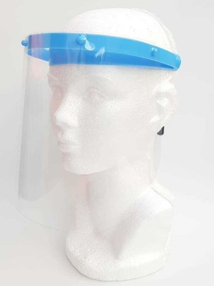 Careta Protectora Facial Transparente Incluye 5 Facias
