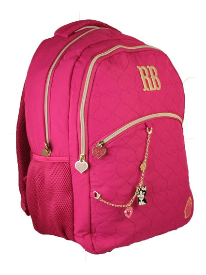 Mochila Notebook Escolar Rebeca Bonbon Cupcake Rb8175 - Rosa