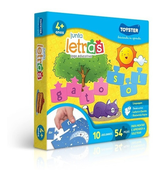 Jogo De Soletrar Junta Letras Educativo Toyster Original