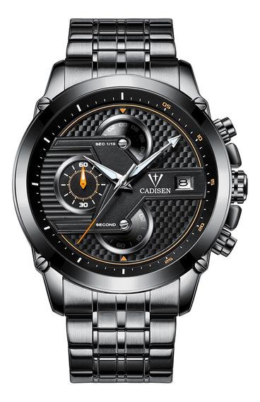 Cadisen Reloj Hombres Deporte Cronógrafo Reloj Cuarzo