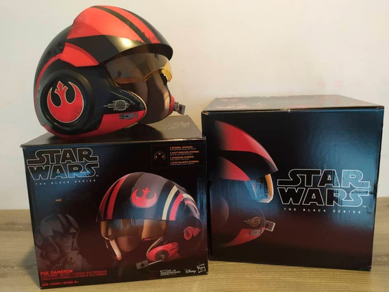 Star Wars The Black Series Poe Dameron Casco Electronico